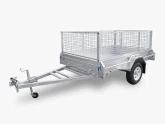 7×5 Galvanised Box Trailer fully welded 300mm side