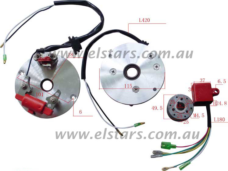 rk in_01 inner rotor kit, high hp inc lightened oil sling [rk in] $79 00
